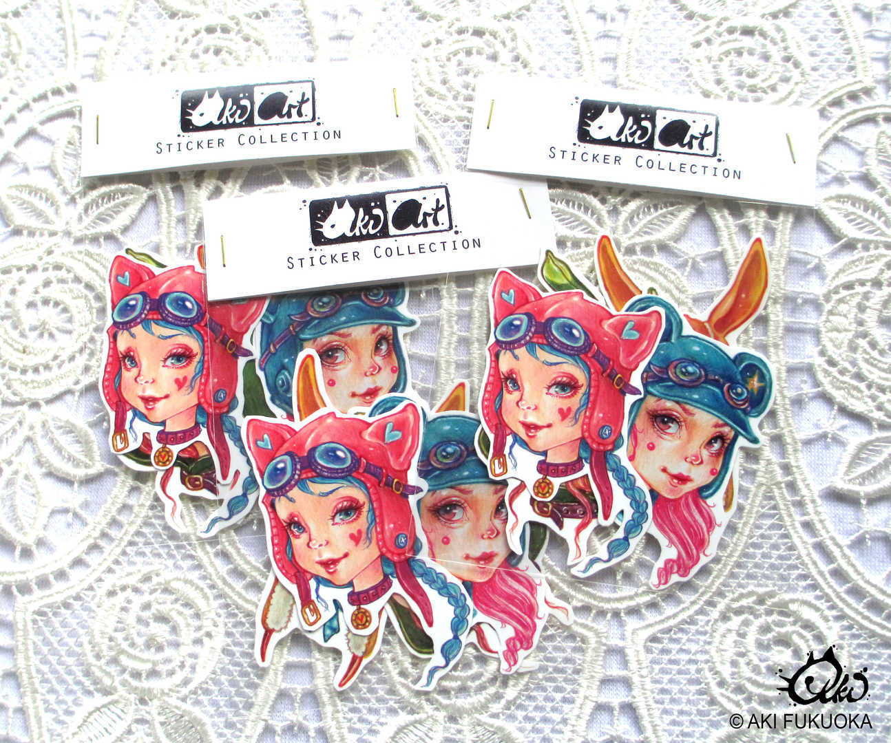 Animal Hoods Sticker Set