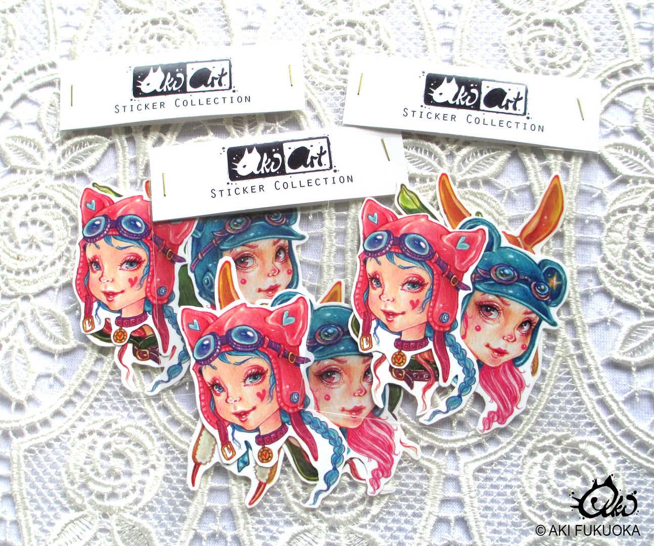 Animal Hoods Sticker Set
