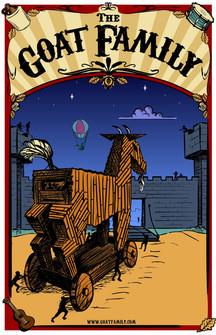 Goat Family Tour Poster