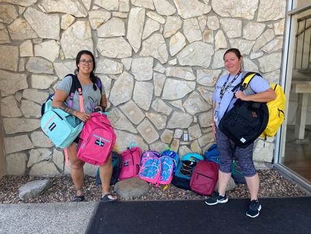 Project School Ready Brings Backpacks Full of School Supplies For CHAT Families