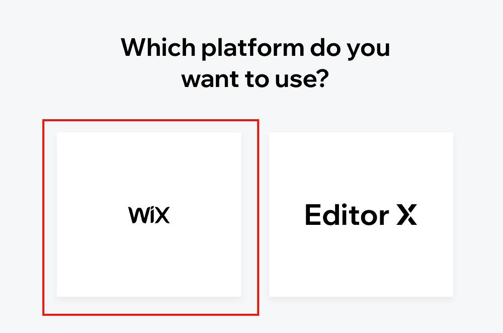 創建新網站時,請選擇左邊的Wix糸統開始架站