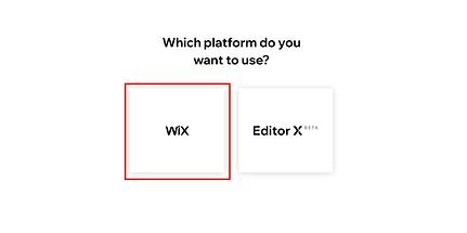 Wix & Editor X