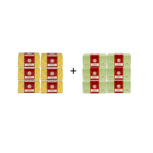 黃綠絕配組~19號發酵奶油500g黃*6+19號發酵奶油500g綠*6