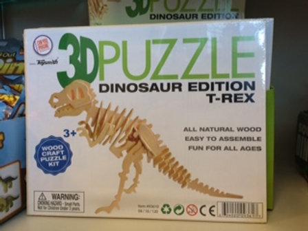 3D Dinosaur Wood Puzzle