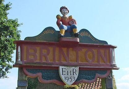 Brinton Village Sign Closeup