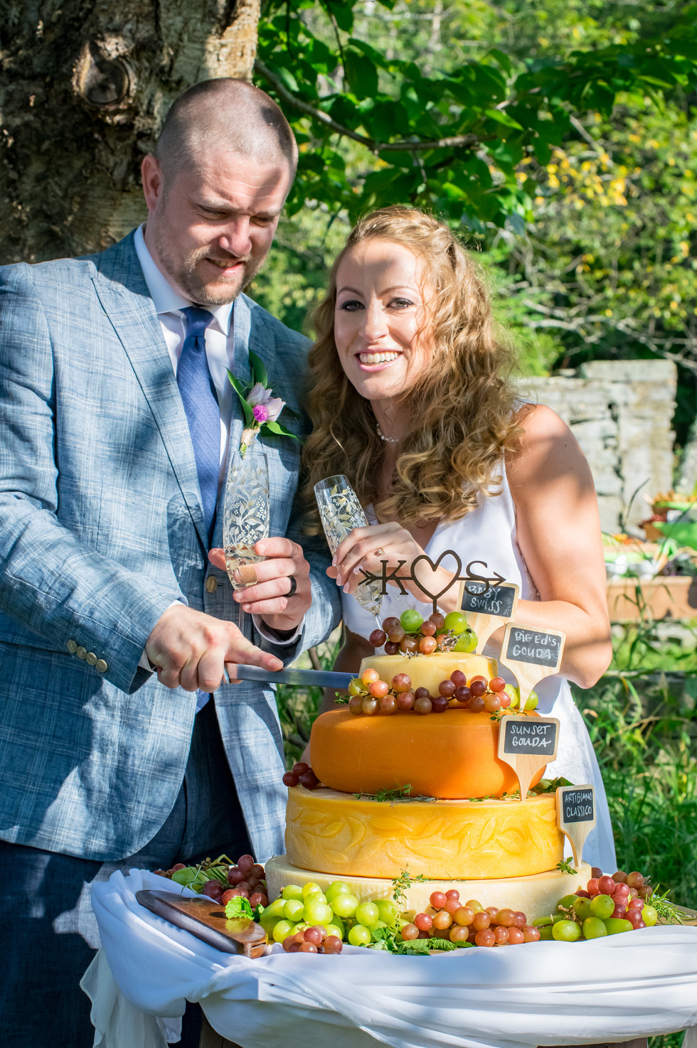 Our Wedding Cheese Tower Story
