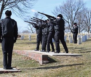 Dayton Honor Squad, military honors, gun rifle salute, Dayton National Cemetery