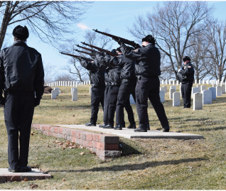 Dayton Honor Squad, military honors, gun rifle salute, Dayton National Cemetery