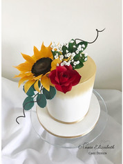 sun flower and rose cake.jpg