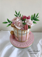 Pink sugar flower drip cake.jpg