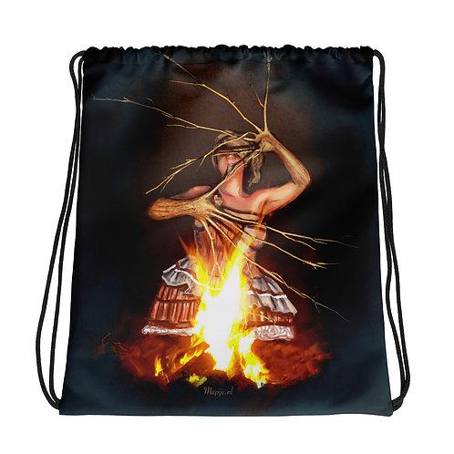 Magic fire Drawstring bag