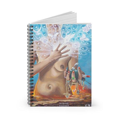 Spiraalvormig notitieboekje - Lijn met lijn Echte schoonheid komt uit het hart