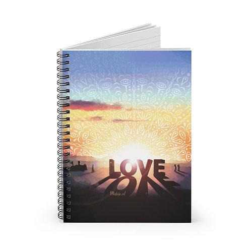 Love Spiral Notebook - Lijn gelinieerd