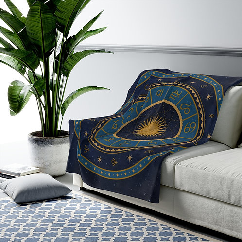 Zodiac Velveteen Plush Blanket