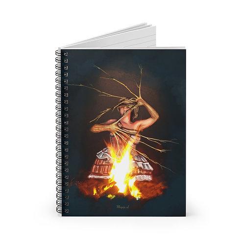 Magic Fire Spiral Notebook - Lijn gelinieerd
