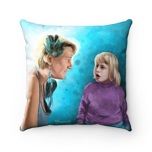 Inner child Faux Suede Pillow Case
