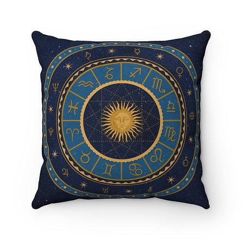 Zodiac Faux Suede Square Pillow Case