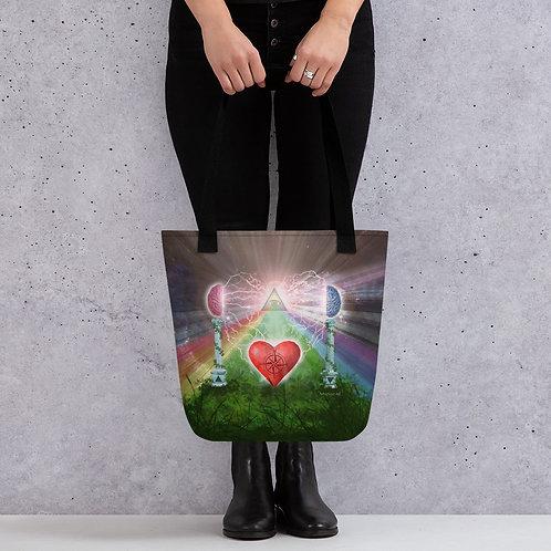 heart mind awareness Tote bag