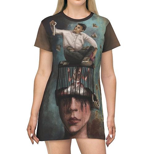 Manipulatie T-shirtjurk