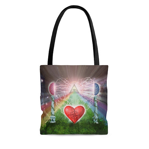 Mind Heart Awareness Tote Bag