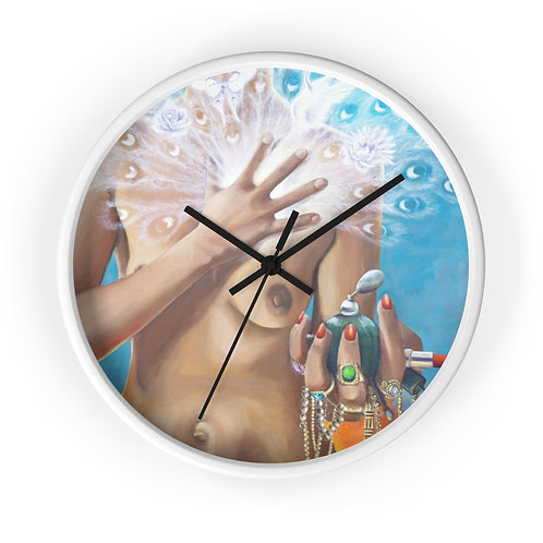 Wall clock True beauty comes from the heart