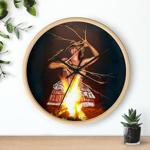 Magic Fire Wandklok