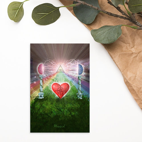 heart mind awareness Postcard