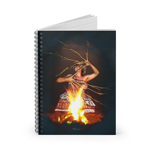 Magic fire Spiral Notebook - Ruled Line