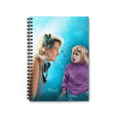 Innerlijke kind spiraal notitieboek - lijn gelinieerd