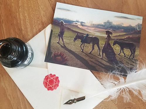 Postcard Donkey Mission