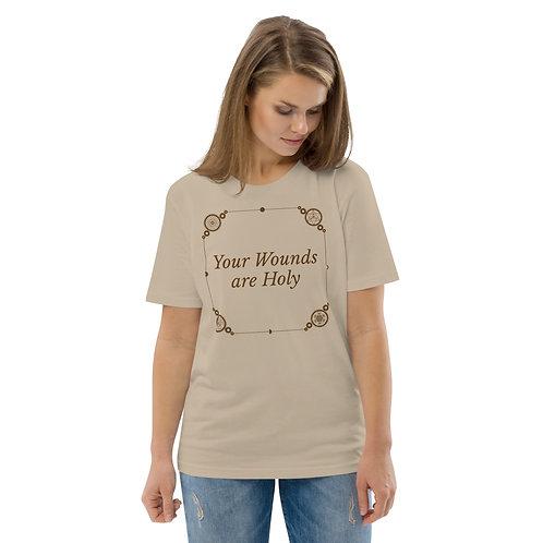 Holy wounds Unisex organic cotton t-shirt copy