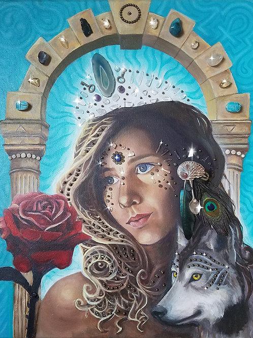 Custom Higher self portrait as Sacred portal