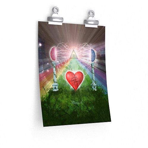 Geest hart bewustzijn poster