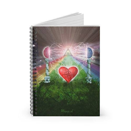 Mind Heart Awareness Spiral Notebook - Lijn gelinieerd