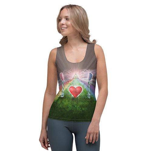 heart mind awareness Cut & Sew Tank Top