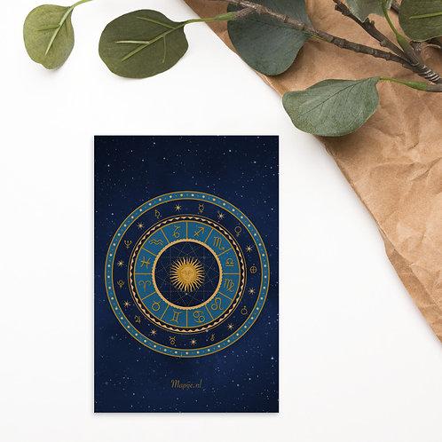 Zodiac Standard Postcard