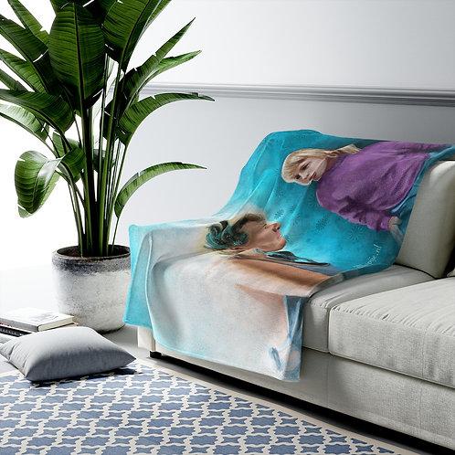 Future self Velveteen Plush Blanket