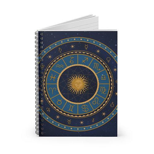 Zodiac Spiral Notebook - Lijn gelinieerd