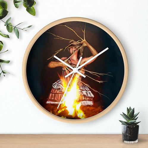 Magic fire Wall clock