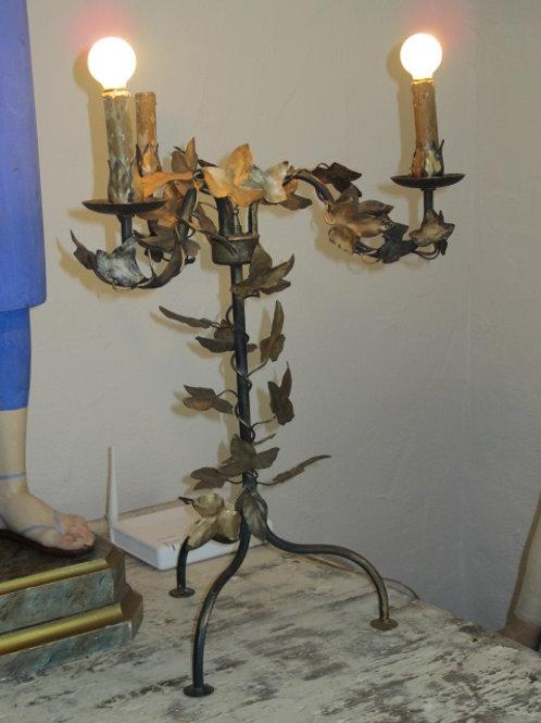 Pareja de lámparasde hierro vintage
