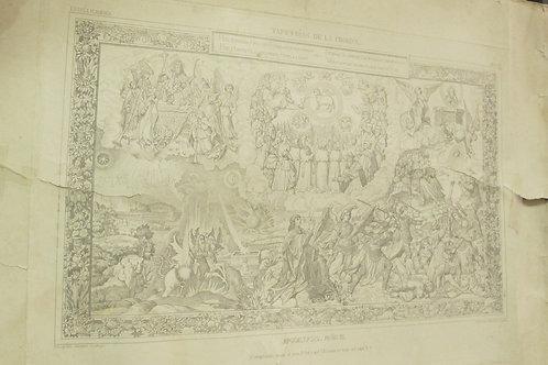 Lote de 3 Grabados de Tapiz s.XIX
