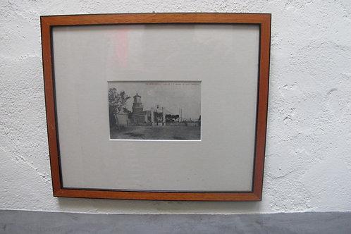 Fotografia antigua enmarcada del Faro de Llafranc