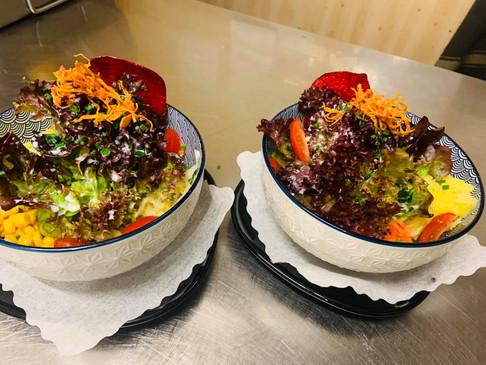 kleine gemischte Salate