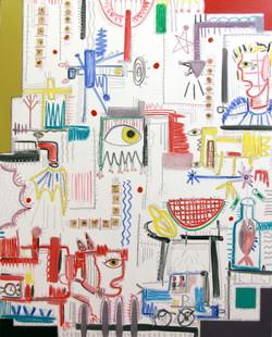 2013 White series  [Qeens 21 bridge] 48x60inch oil on canvas