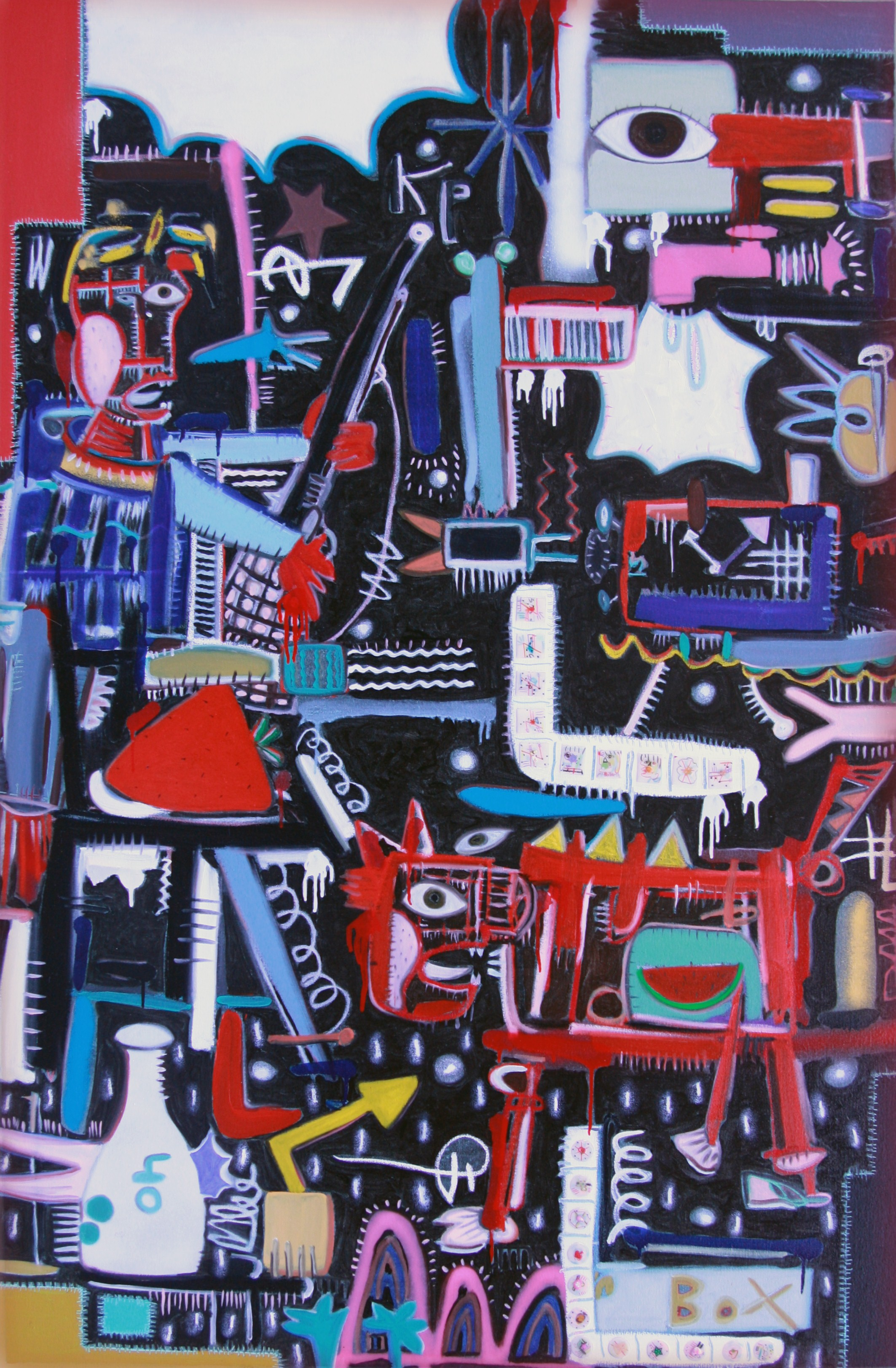 2010 XP play series ;Don,t Be Stranger; 48x72inch oil on canvas
