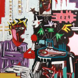 2013 XP black seies [my heart leaped] 91x91cm oil on canvas
