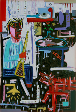 2010 XP black series; you don,t fool me; 48x72inch oil on canvas