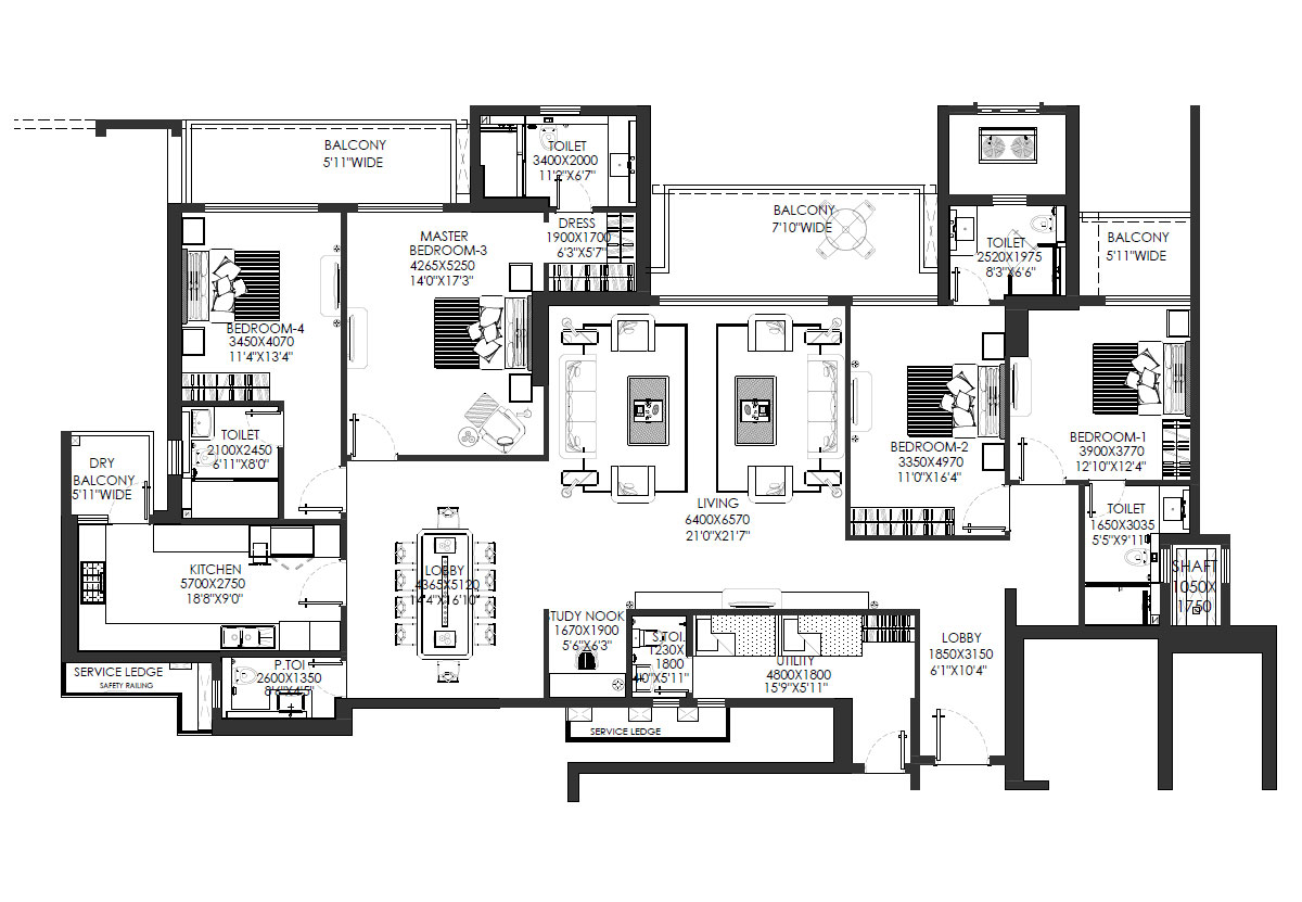 DLF Crest | Sector 54Gurugram | 3/4 BHK Luxury apartments
