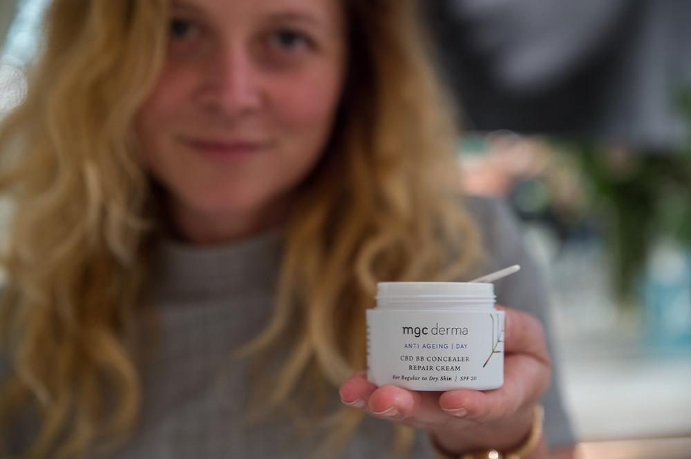 MGC Derma CBD products at Harvey Nichols in the UK, July 2018. Courtesy