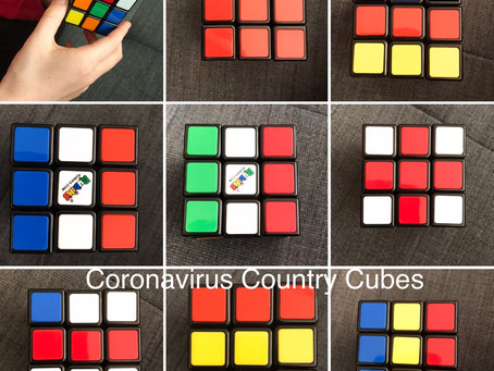 Coronavirus creativity: Country cubes